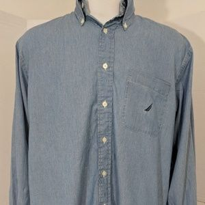 Vintage 90's Nautica Long Sleeve Button Up Shirt